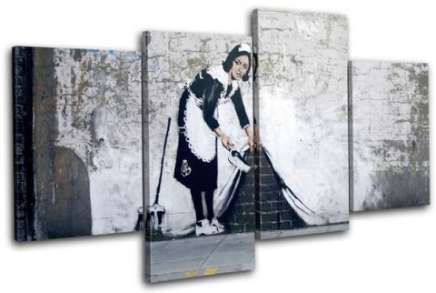 Maid Grafitii Banksy Street - 13-0944(00B)-MP04-LO
